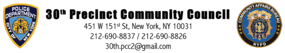 30th Precinct Community Council